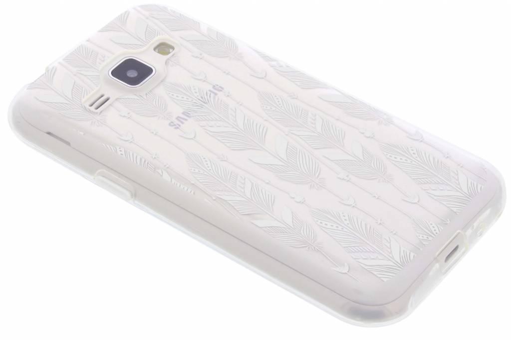 Feathers transparant festival TPU hoesje voor de Samsung Galaxy J1