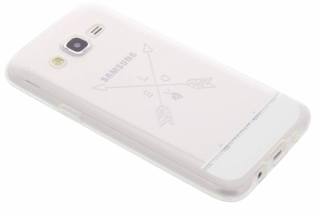 Love arrow transparant festival TPU hoesje voor de Samsung Galaxy J5
