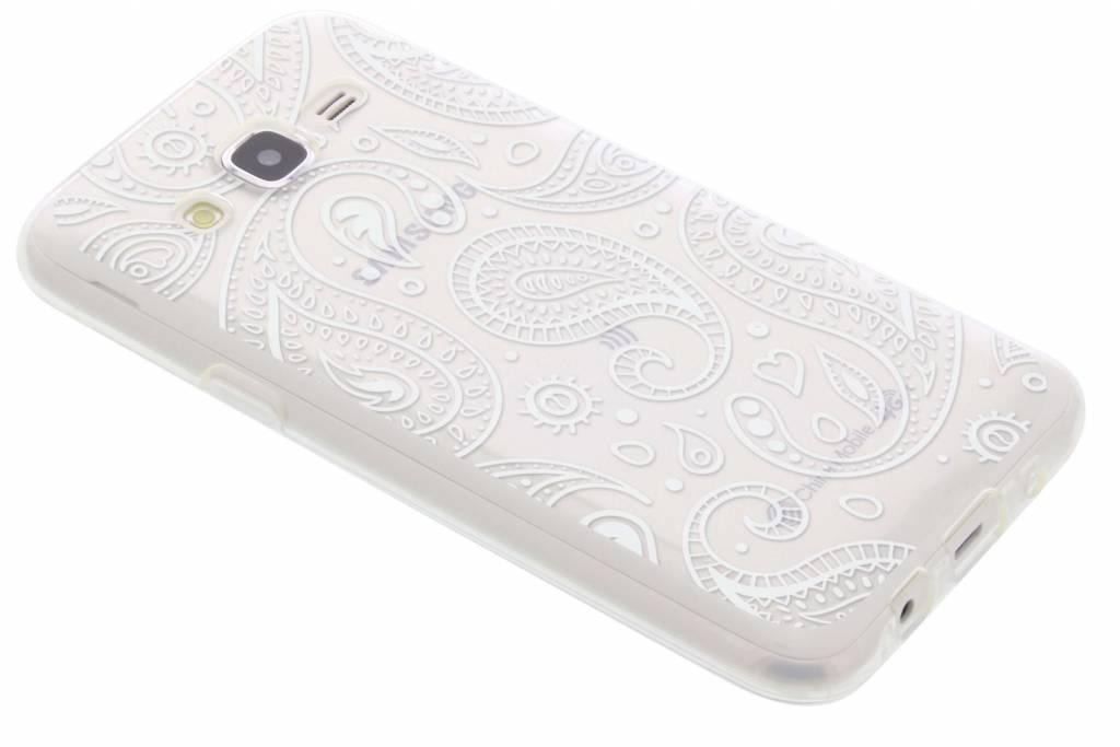 Paisley transparant festival TPU hoesje voor de Samsung Galaxy J5