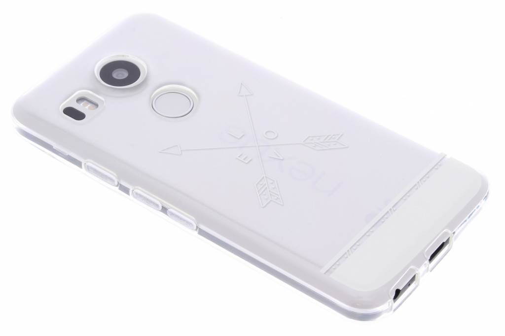 Love arrow transparant festival TPU hoesje voor de LG Nexus 5X