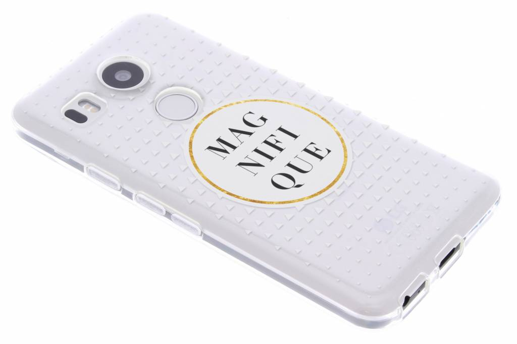Magnifique transparant festival TPU hoesje voor de LG Nexus 5X