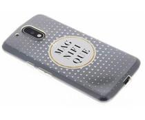 Transparant festival TPU hoesje Motorola Moto G4 (Plus)