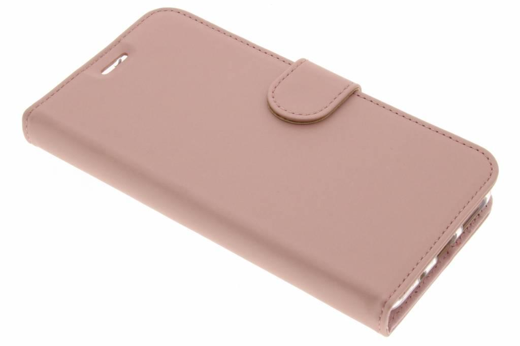Accezz Rosé Gouden Wallet TPU Booklet voor de Asus Zenfone 3 Max ZC553KL