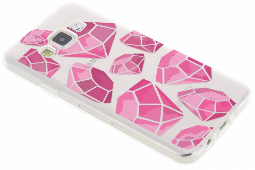 Pink diamonds design TPU hoesje voor de Samsung Galaxy A3