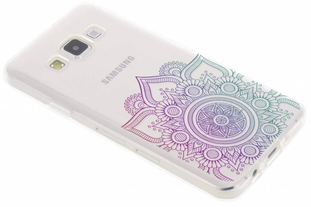 Multicolor mandala design TPU hoesje voor de Samsung Galaxy A3