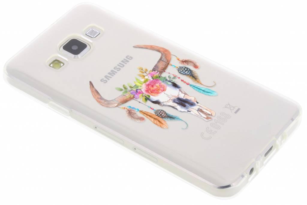 Bull Skull Feathers design TPU hoesje voor de Samsung Galaxy A3