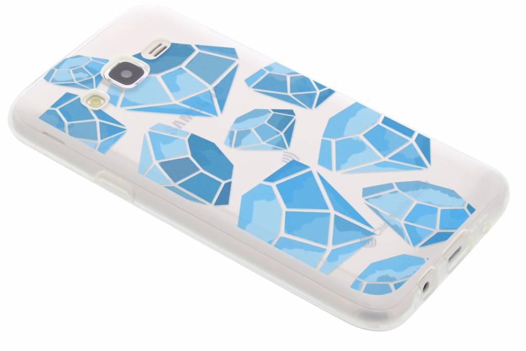 Blue Diamonds design TPU hoesje voor de Samsung Galaxy J5