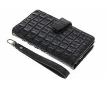 Zwart Krokodil Wallet Case Honor 8