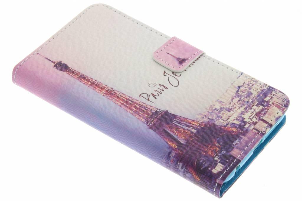 Parijs design TPU booktype hoes voor de Honor 8