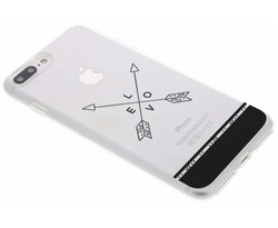 Transparant festival TPU hoesje iPhone 8 Plus / 7 Plus