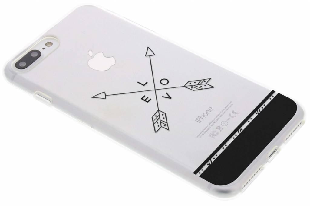 Love arrow transparant festival TPU hoesje voor de iPhone 8 Plus / 7 Plus