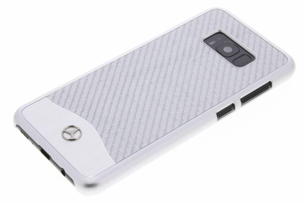 Fibre De Carbone Argent Étui Rigide Pour Samsung Galaxy S8, Plus