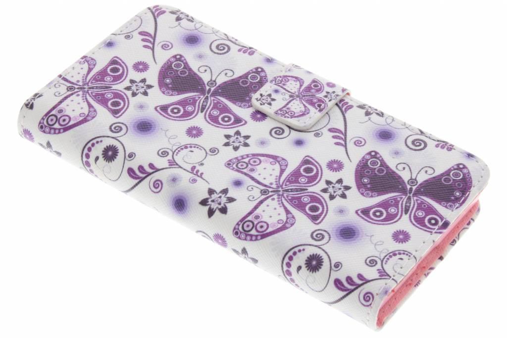 Vlinders design TPU booktype hoes voor de Sony Xperia X Compact