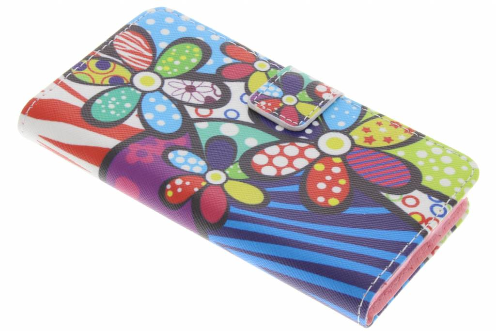 Bloemen design TPU booktype hoes voor de Sony Xperia X Compact