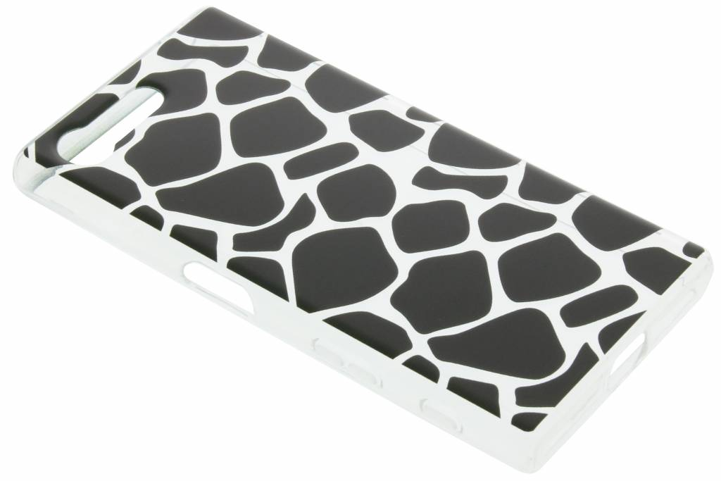Zwart dierenprint design Giraffe TPU hoesje voor de Sony Xperia X Compact
