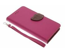 Fuchsia Blad design TPU booktype Sony Xperia L1