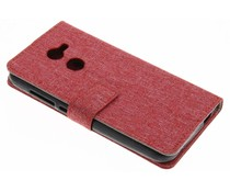 Rood Linnen booktype hoes Alcatel A3