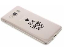 Quote design TPU hoesje Samsung Galaxy J7 (2016)