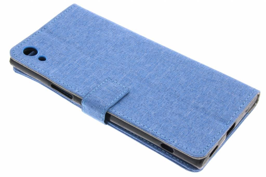 Blauwe linnen booktype hoes voor de Sony Xperia XA1 Ultra
