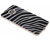 Dierenprint design Zebra TPU hoesje Motorola Moto Z