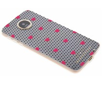 Dots and hearts design TPU hoesje Motorola Moto Z