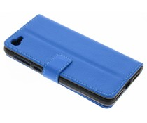 Blauw TPU Bookcase Alcatel A5 Led