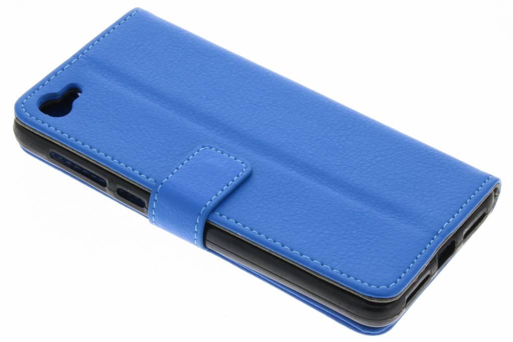 Blauwe TPU Bookcase voor de Alcatel A5 Led