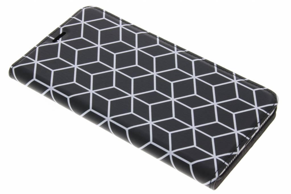 Cubes Black Design Booklet voor de Huawei Mate 9