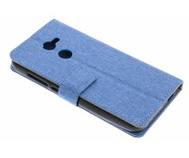 Blauw Linnen booktype hoes Alcatel A3