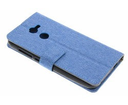 Blauw Linnen booktype hoes Alcatel A3