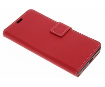 Rood geribbelde booktype hoes Alcatel A5 Led