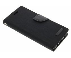 Mercury Goospery Zwart Canvas Diary Case Samsung Galaxy S8