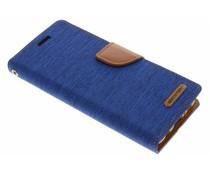 Mercury Goospery Blauw Canvas Diary Case Samsung Galaxy S8