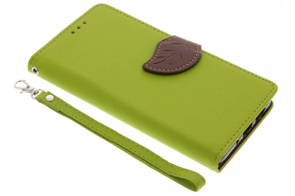 Groene Blad design TPU booktype voor de Huawei P10 Lite