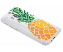 Transparant fruit design TPU hoesje HTC One M8 / M8s