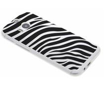 Dierenprint design Zebra TPU hoesje HTC One M8 / M8s