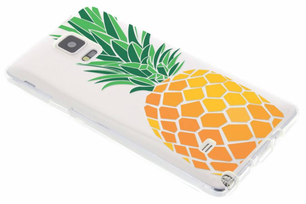 Transparant ananas design TPU hoesje voor de Samsung Galaxy Note 4