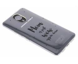 Quote design TPU hoesje General Mobile GM5 Plus