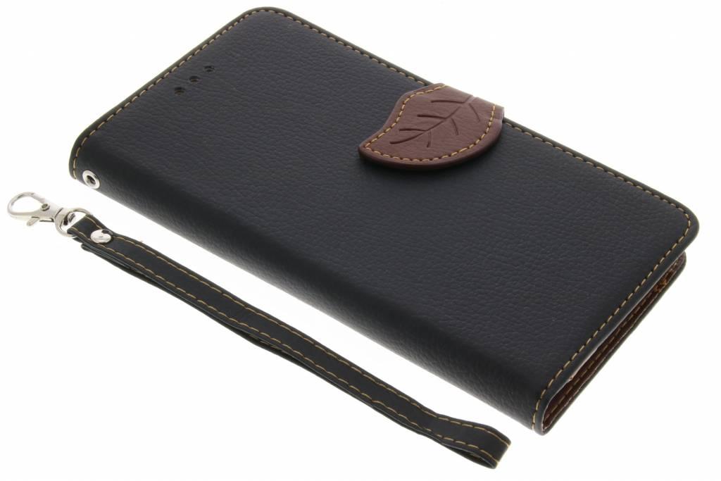Zwarte blad design TPU booktype voor de Sony Xperia L1