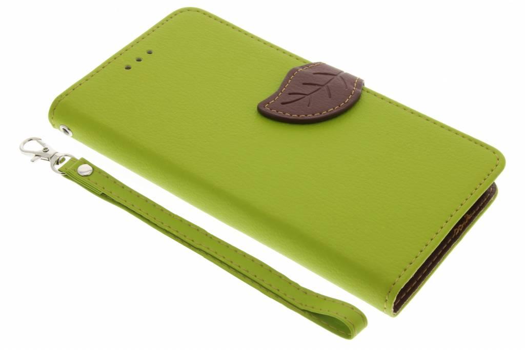 Groene blad design TPU booktype voor de Sony Xperia L1
