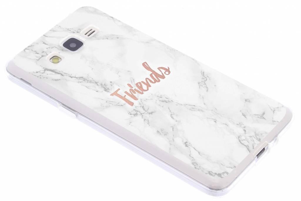 BFF White Marble Love TPU hoesje voor de Samsung Galaxy Grand Prime