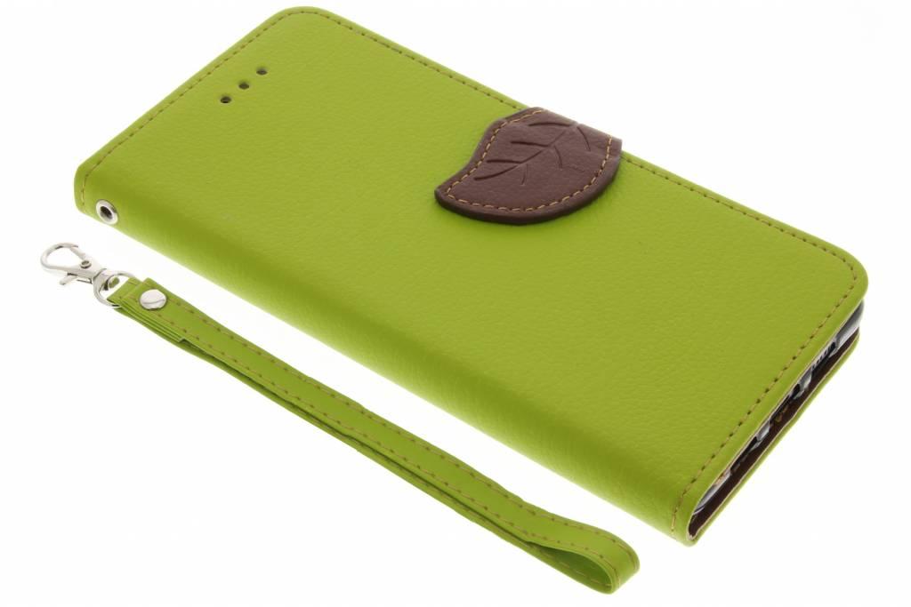 Groene blad design TPU booktype voor de Lenovo P2