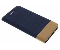 Donkerblauw denim TPU booktype hoes Huawei P10