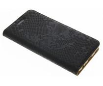 Zwart luxe slangen TPU booktype Huawei P10