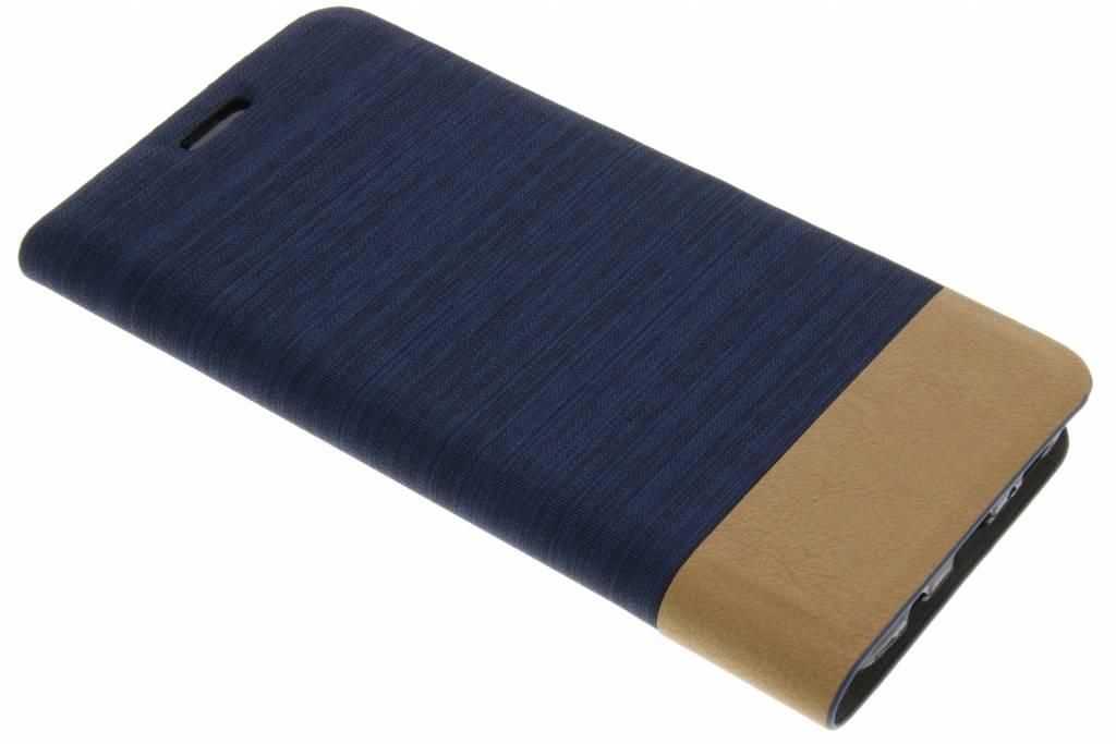 Donkerblauwe denim TPU booktype hoes voor de Samsung Galaxy S8 Plus
