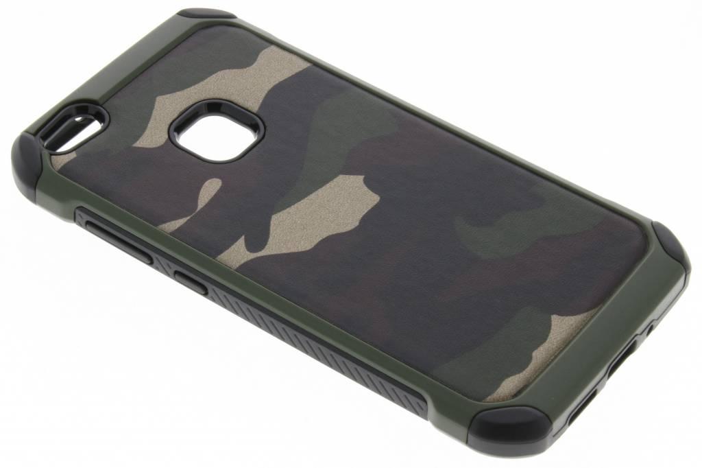 Groene army defender hardcase hoesje voor de Huawei P10 Lite
