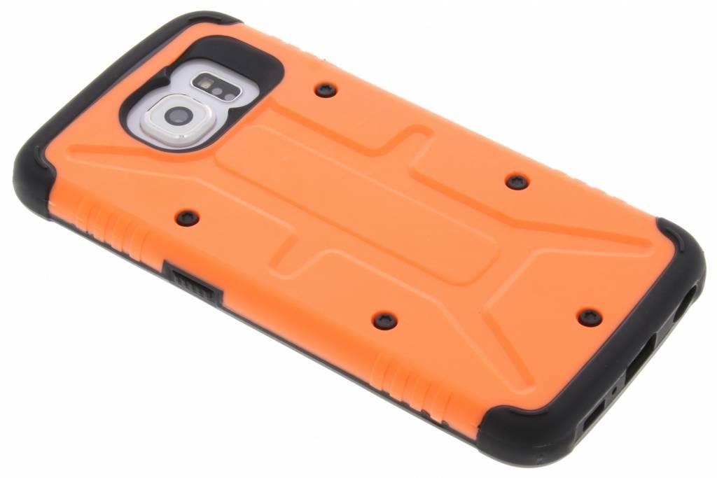 Oranje Xtreme defender hardcase voor de Samsung Galaxy S6