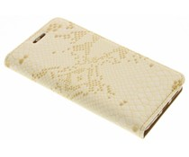 Goud luxe slangen TPU booktype Huawei P10 Lite
