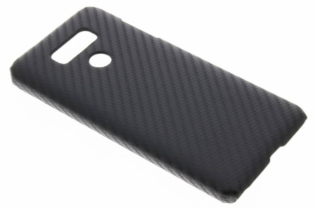Zwart carbon look hardcase hoesje voor de LG G6