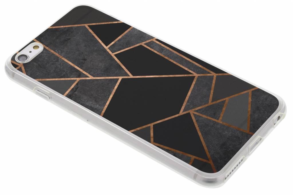 Zwart Grafisch design TPU hoesje voor de iPhone 6(s) Plus